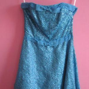 Betsey Johnson Blue Short Prom Dress Size 4